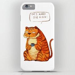 Mr Tiger iPhone Case