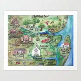 The North End Art Print
