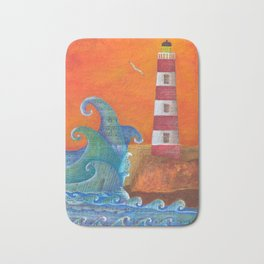 Out of Nowhere Lighthouse Bath Mat