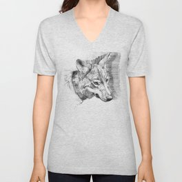 Eastern timber wolf Unisex V-Neck