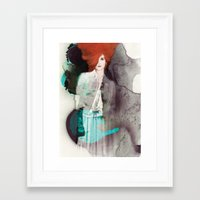 fashion illustration Framed Art Prints featuring FASHION ILLUSTRATION 11 by Justyna Kucharska