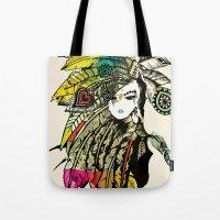 karu kara Tote Bags featuring KARA by DON'T NEED NO SAMURAI