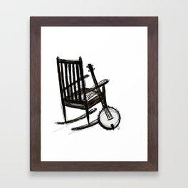 Grandma's Banjo Framed Art Print