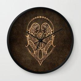 Vintage Rustic Gemini Zodiac Sign Wall Clock