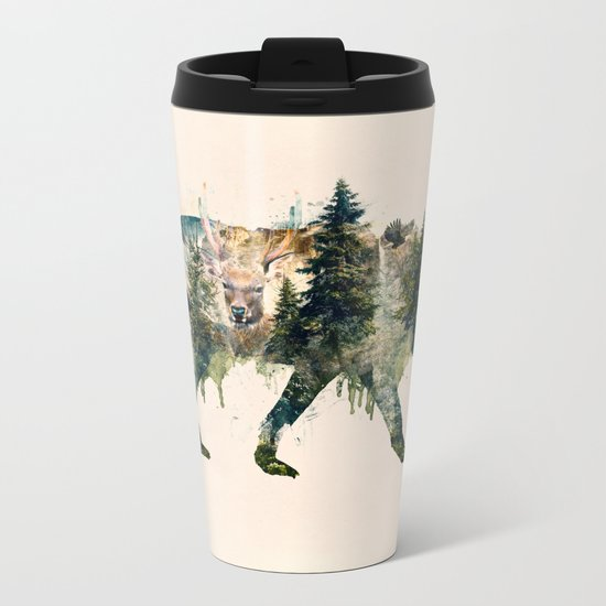 Wolf is the Pride of Nature Metal Travel Mug
