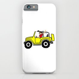 Wave yellow Side view iPhone Case