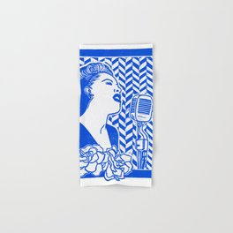 Lady Day (Billie Holiday block print) Hand & Bath Towel