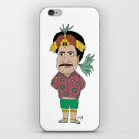 tim shumate iPhone & iPod Skins featuring Tim MAIA by Danyllo Franco