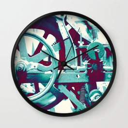 Crank Cogs Machine Wall Clock