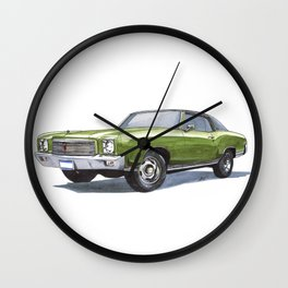 71 Monte Carlo SS 454 Wall Clock