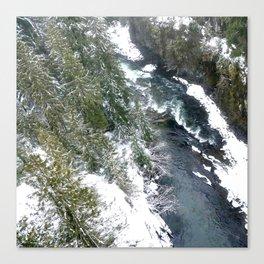 Cold stream Canvas Print