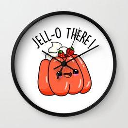 Jello There Cute Jello Pun Wall Clock