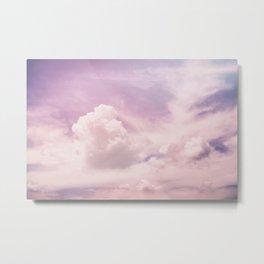 Light Pink Sky Metal Print