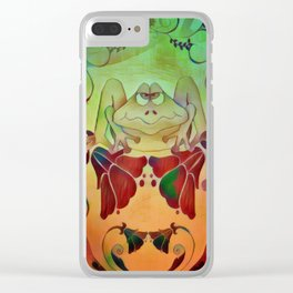 A Frogs World Clear iPhone Case