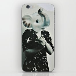 Shy Elephant iPhone Skin