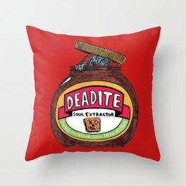 Deadite: The Evil Spread (Cap Off Version) Throw Pillow
