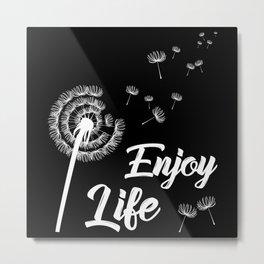 Motivation Bust Flower Saying Motivation Sayings Metal Print