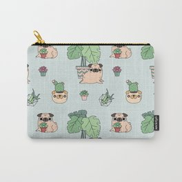 Pug and house plants Carry-All Pouch