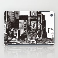 new york iPad Cases featuring New York New York by Bianca Green