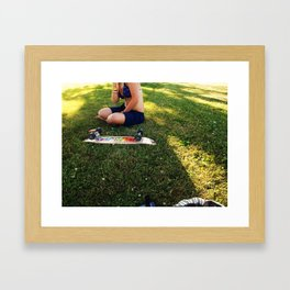 Skate Sesh Intermission Framed Art Print