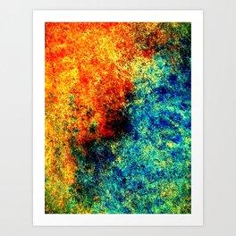 Abstract painting orange blue Art Print