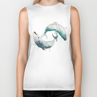 whales Biker Tanks featuring whales by Chebhead