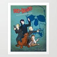 Redbeard Mystery Incorperated  Art Print