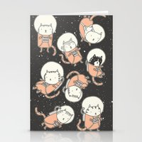 channel Stationery Cards featuring Cat-Stronauts by Drew Brockington
