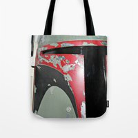 boba fett Tote Bags featuring Boba Fett by McKenzie Nickolas