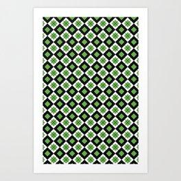 CHECK IT GREEN Art Print