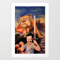 Finn The Butcher oil on canvas  Art Print