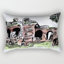 Flavian Amphitheatr Pozzuoli Itay Rectangular Pillow