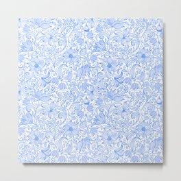 Bells Flower - BUTTERFLIES - CAMPANULA BLUE Metal Print