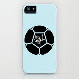 Brazil World Cup 2014 - Poster n°5 iPhone Case