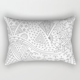 Doodling whites Rectangular Pillow