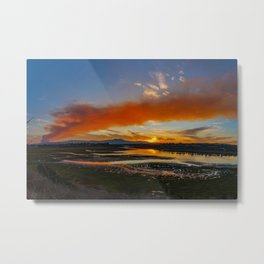 Smoky Sunrise Over the Back Bay Metal Print