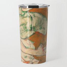 Egon Schiele - Lovemaking (1915) Travel Mug