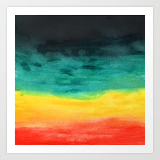 Darkness in the Horizon Art Print