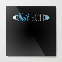 Nailtech Fingernail Manicure Nailstudio Metal Print