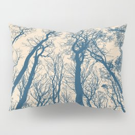 Blue Forest Silhouette Pillow Sham