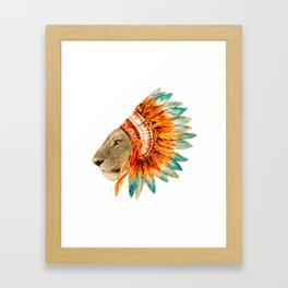 The Feminist - Chief Lioness - colors Framed Art Print