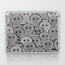 Goth christmas   Gingerbread man   Merry Cristmas Laptop & iPad Skin