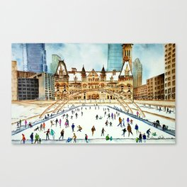 Late Afternoon Skate Canvas Print