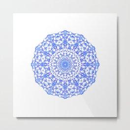 Mandala 12 / 4 eden spirit indigo blue Metal Print