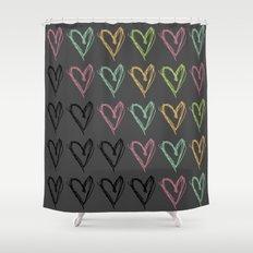 Hearts Hearts Hearts Shower Curtain