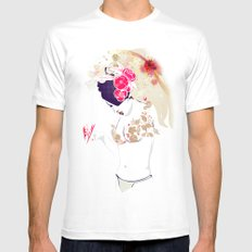 Madame Butterfly MEDIUM White Mens Fitted Tee
