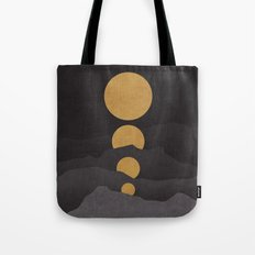 Rise of the golden moon Tote Bag