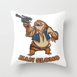 Han Slomo Throw Pillow