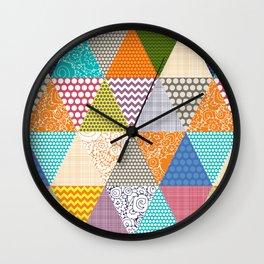 seaview beauty triangles Wall Clock