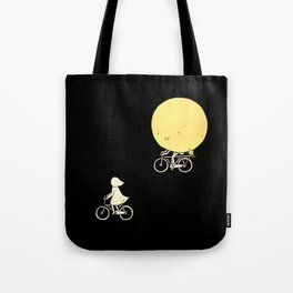 The moon and me Tote Bag